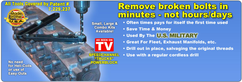 Broken Bolt Removal >> Broken Bolt Extractor Kit Remove Broken Bolts Brokenbolt Com