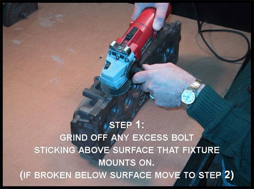 Small Broken Bolt Extractor Kit Demo Step 1